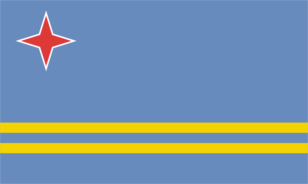 Design of the Aruba 1500x900mm Flag