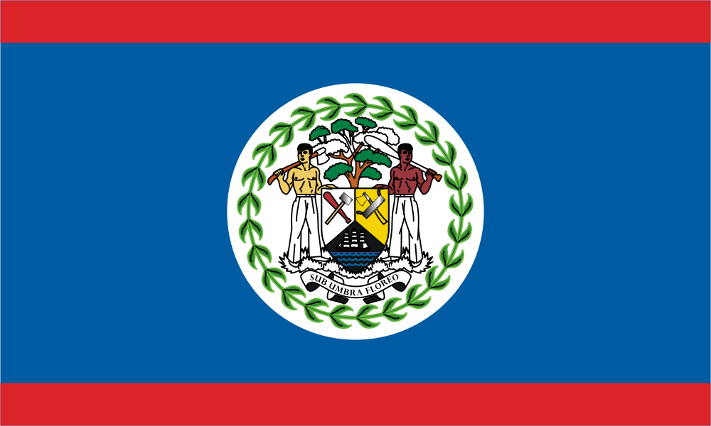 Design of the Belize 124x82mm Decal