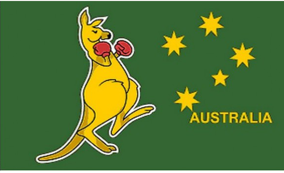 Design of the Boxing Kangaroo 1500x900mm Flag