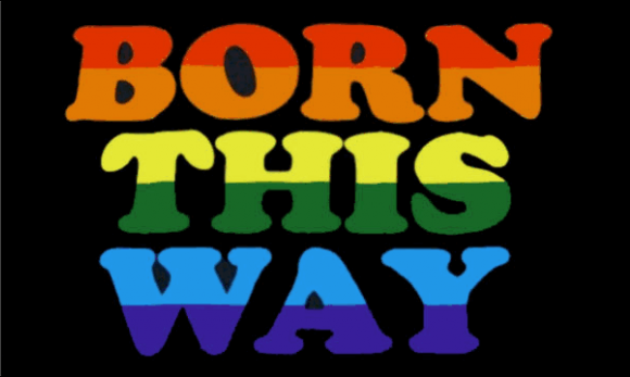 Design of the Born This Way 1500x900mm Flag