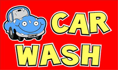 Design of the Car Wash 1500x900mm Flag