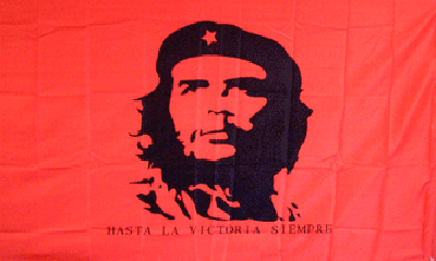 Design of the Che Guevara on Red Background 2400x1500mm Flag