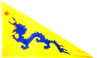 Design of the Chinese Dragon Triangle 1500x900mm Flag