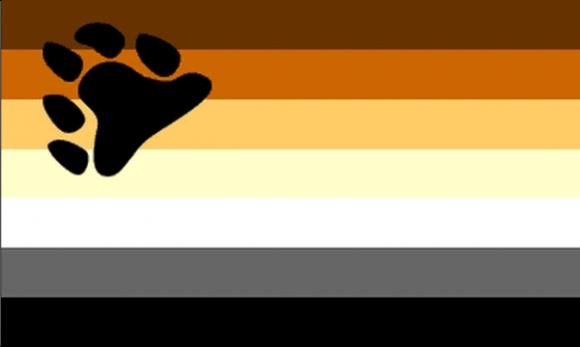 Design of the Gay Pride Bear 1500x900mm Flag