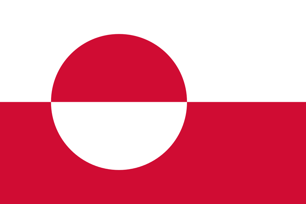 Design of the Greenland 900x600mm Flag