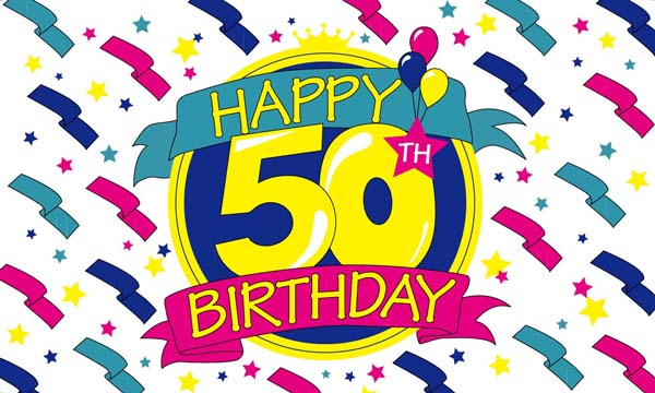Flag image for Happy Birthday 50