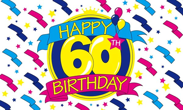 Flag image for Happy Birthday 60