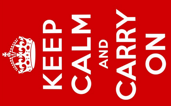 Design of the Keep Calm and Carry On 1500x900mm Flag