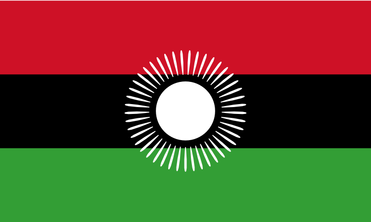 Design of the Malawi 2010 to 2012 900x600mm Flag