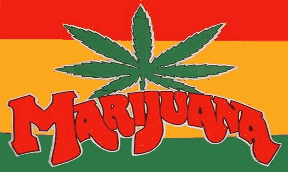 Flag image for Marijuana on Red Yellow and Green Horizontal stripes