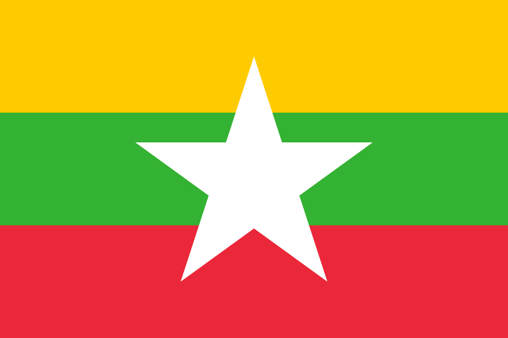 Design of the Myanmar 150x100mm Desk Flag