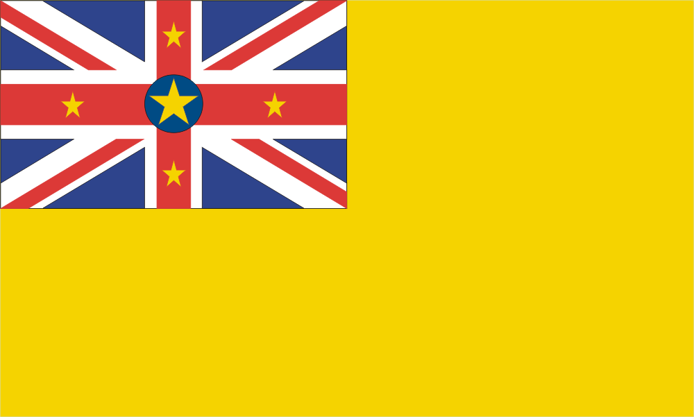 Design of the Niue 1500x900mm Flag