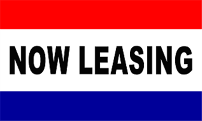 Design of the Now Leasing Red White Blue 1500x900mm Flag
