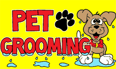 Design of the Pet Grooming 1500x900mm Flag