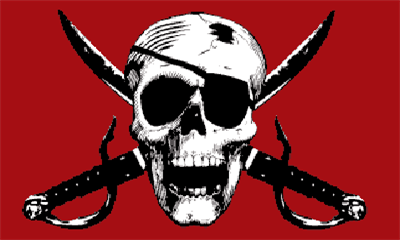 Design of the Pirate Crimson 1500x900mm Flag