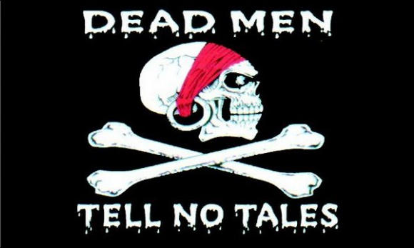 Design of the Dead Men Tell No Tales 1500x900mm Flag