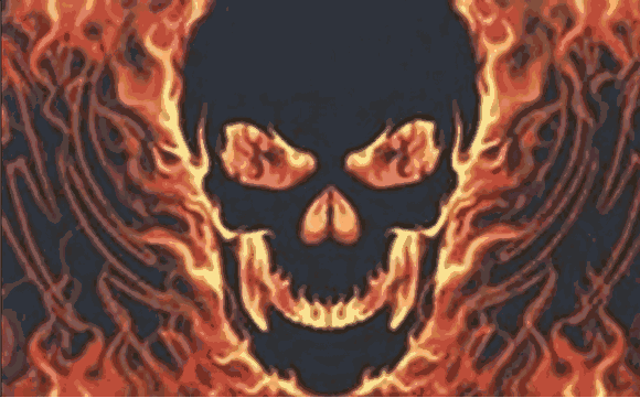 Flag image for Skull with Fire