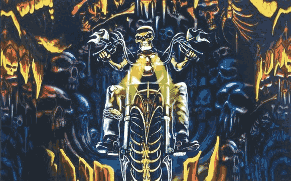 Flag image for Skeleton Riding Motorcycle