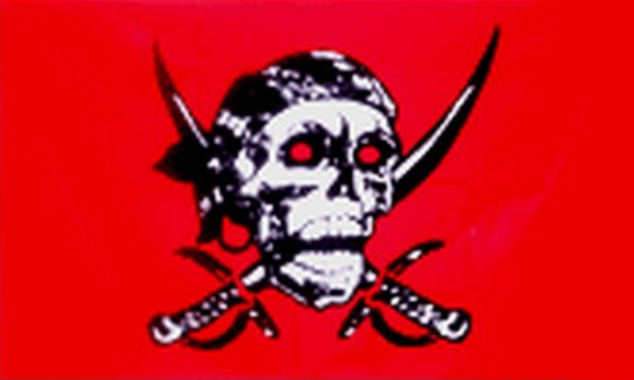 Design of the Pirate Red Skull 1500x900mm Flag