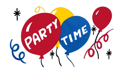 Design of the Party Time 900x600mm Flag