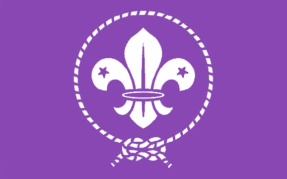 Design of the Scout Purple International 150x100mm Desk Flag