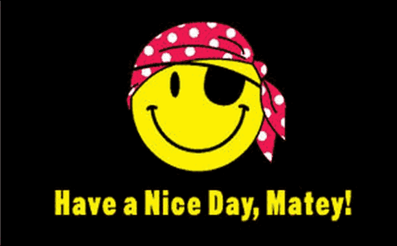 Design of the Have A Nice Day Matey 900x600mm Flag