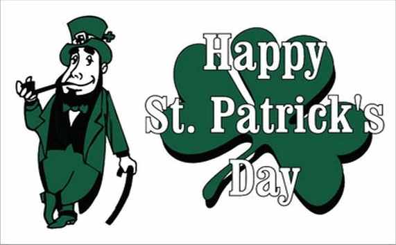 Flag image for Happy Saint Patricks Green White