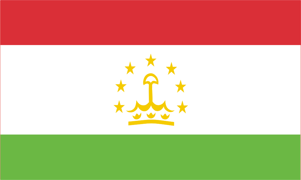 Design of the Tajikistan 150x100mm Desk Flag