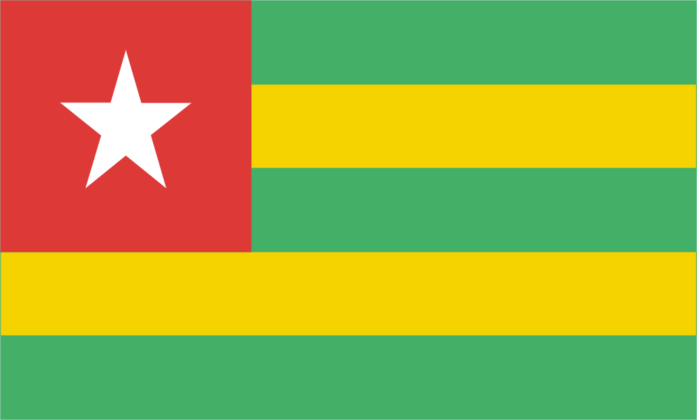 Design of the Togo 900x600mm Flag