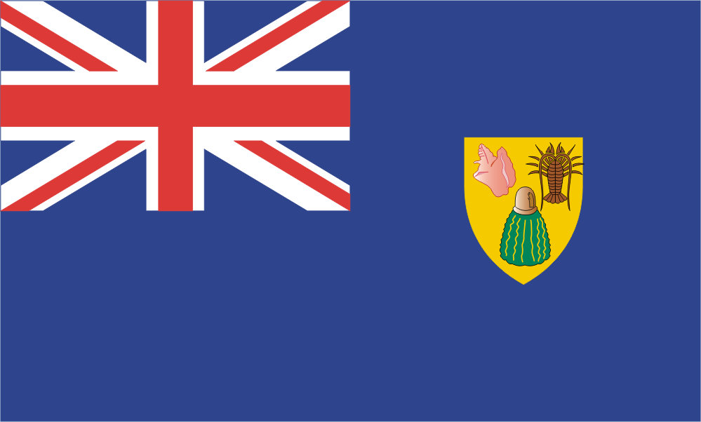 Design of the Turks And Caicos Islands 150x100mm Desk Flag