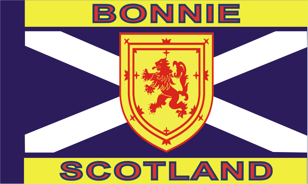 Design of the Bonnie Scotland 1500x900mm Flag