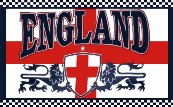 Design of the England Two Lions 1500x900mm Flag