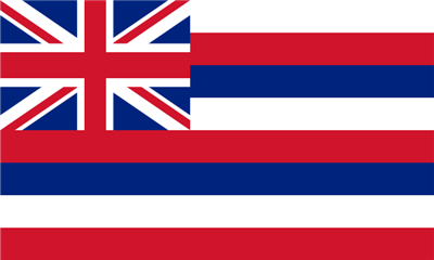 Flag image for Hawaii State of United States America