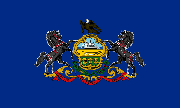 Design of the Pennsylvania State of United States America 1500x900mm Flag