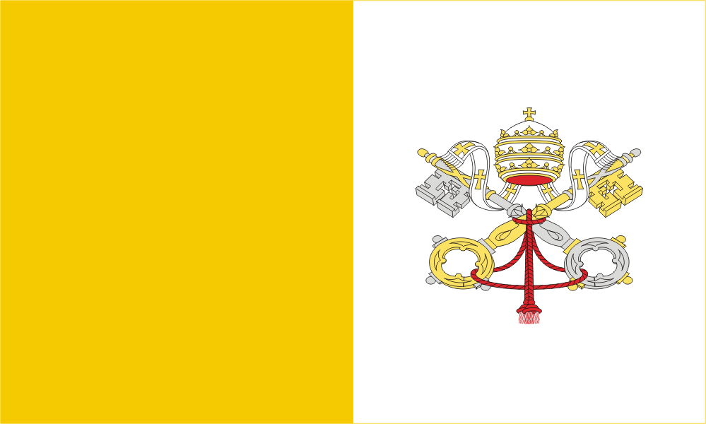 Design of the Holy See (Vatican City) 124x82mm Decal