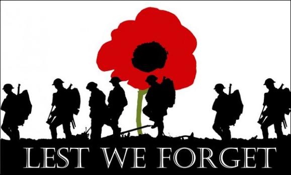 Design of the Lest We Forget Army 450x300mm Hand-waver