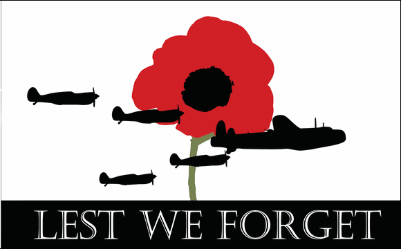 Design of the Lest We Forget Airforce 1500x900mm Flag
