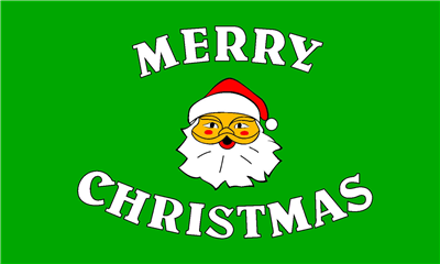 Design of the Merry Christmas Green 1500x900mm Flag
