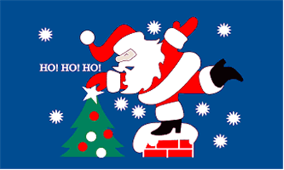 Design of the Christmas Santa Ho Ho Ho 1500x900mm Flag
