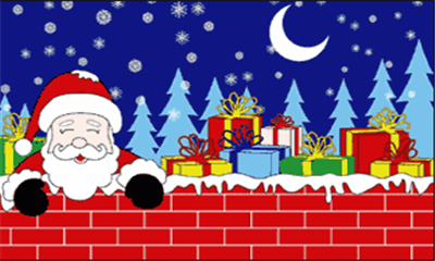 Design of the Christmas Eve Santa 1500x900mm Flag