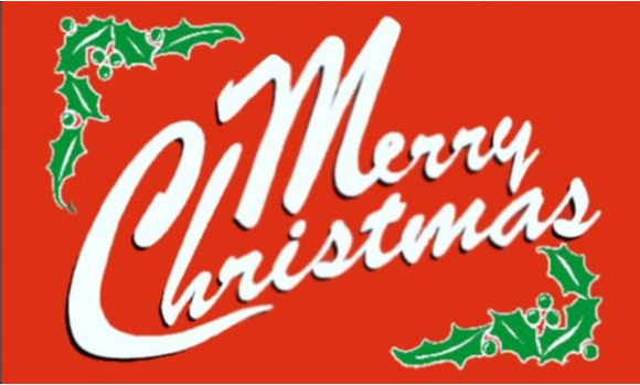 Design of the Merry Christmas Red 150x100mm Desk Flag