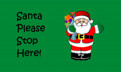 Flag image for Santa Please Stop Here
