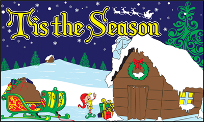Design of the Tis The Season 1500x900mm Flag