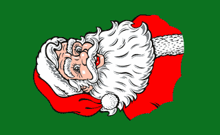 Design of the Santa Vertical 1500x900mm Flag