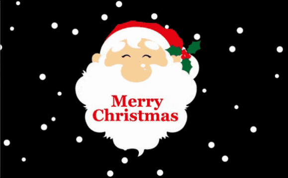 Design of the Santa Face on black background 1500x900mm Flag