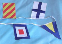 Image for String 40 Flags International Maritime Signal Code Flags 200to360mm