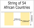 General specification for String of 54 Africa flags 230x150mm