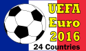 Image for Euro 2016 String of 24 flags 230x150mm