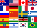 Set of G20 World Flags Large
