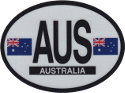 Design of the Australia 120x90mm Decal Oval Reflect